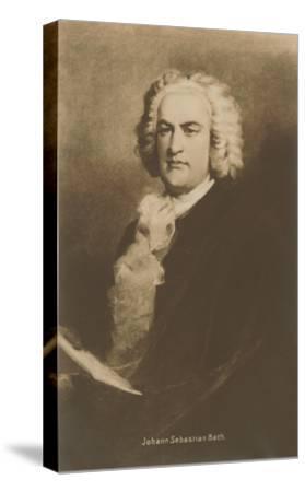 Portrait of Johann Sebastian Bach--Stretched Canvas Print