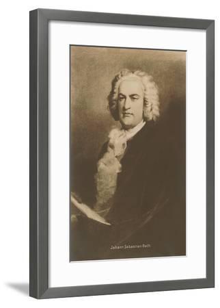 Portrait of Johann Sebastian Bach--Framed Art Print