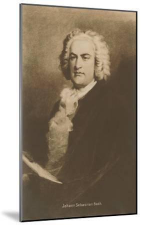 Portrait of Johann Sebastian Bach--Mounted Art Print