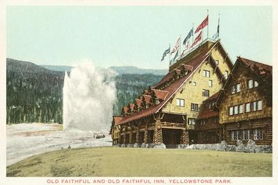 Old Faithful Inn, Yellowstone Park, Montana--Stretched Canvas Print