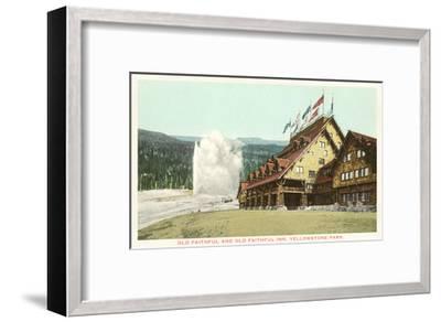 Old Faithful Inn, Yellowstone Park, Montana--Framed Art Print