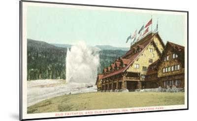 Old Faithful Inn, Yellowstone Park, Montana--Mounted Art Print