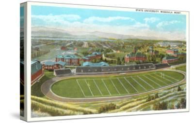 University Playing Field, Missoula, Montana--Stretched Canvas Print