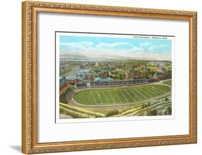 University Playing Field, Missoula, Montana--Framed Art Print