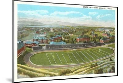 University Playing Field, Missoula, Montana--Mounted Art Print