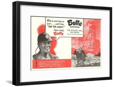 Promotion of Butte, Montana--Framed Premium Giclee Print