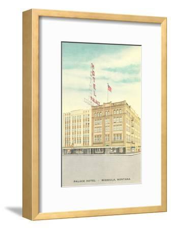Palace Hotel Missoula Montana Framed Art Print