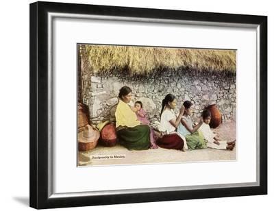 Nitpicking Beggars, Mexico--Framed Art Print