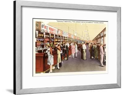 Long Bar, Tijuana, Mexico--Framed Art Print