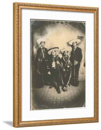 Photograph of Mariachis--Framed Art Print