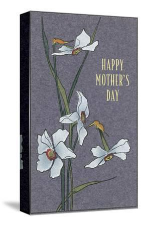 Happy Mother's Day, Delicate Flowers--Stretched Canvas Print