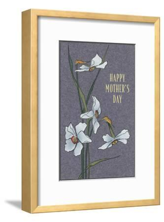 Happy Mother's Day, Delicate Flowers--Framed Art Print