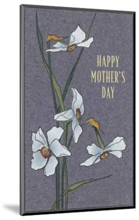 Happy Mother's Day, Delicate Flowers--Mounted Art Print