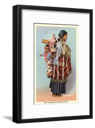 Navajo Mother and Papoose--Framed Art Print