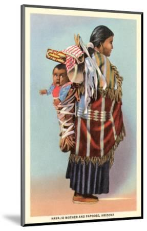Navajo Mother and Papoose--Mounted Art Print