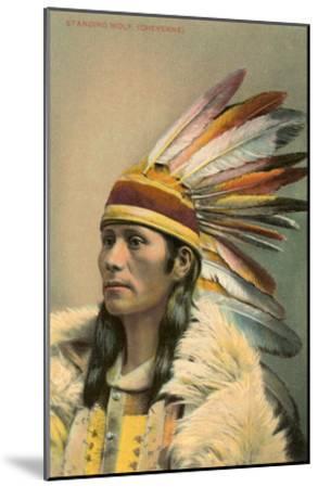 Standing Wolf, Cheyenne Indian--Mounted Art Print