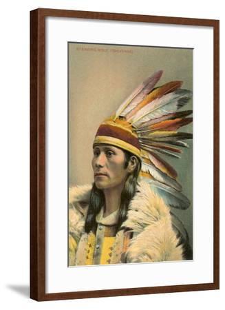 Standing Wolf, Cheyenne Indian--Framed Art Print