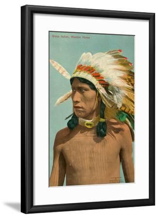 Wander Horse, Sioux Indian--Framed Art Print