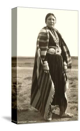 Navajo Woman--Stretched Canvas Print