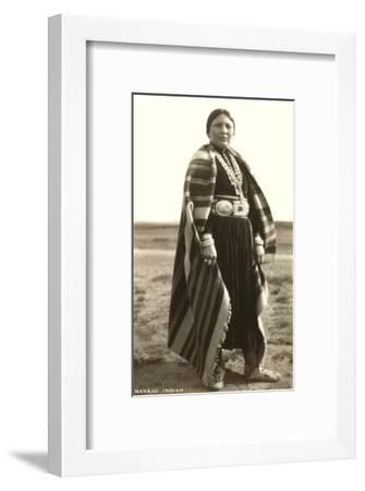 Navajo Woman--Framed Art Print