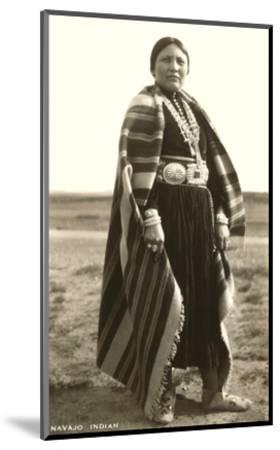 Navajo Woman--Mounted Art Print