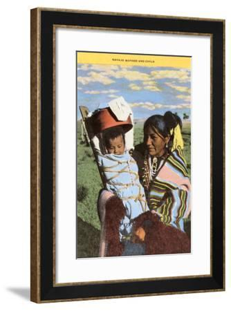 Navajo Mother with Papoose--Framed Art Print