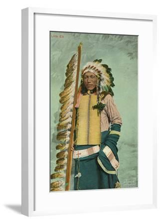 Little Elk, Plains Indian--Framed Art Print