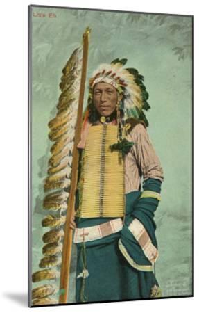 Little Elk, Plains Indian--Mounted Art Print