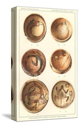 Hopi Polychrome Bowls from Sikyatki--Stretched Canvas Print