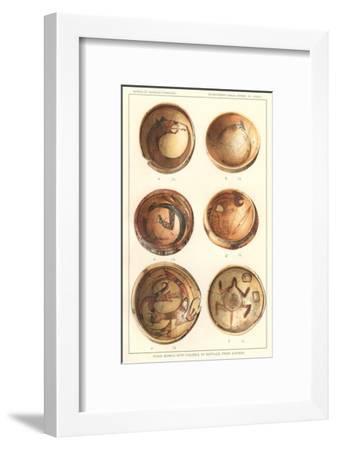 Hopi Polychrome Bowls from Sikyatki--Framed Art Print