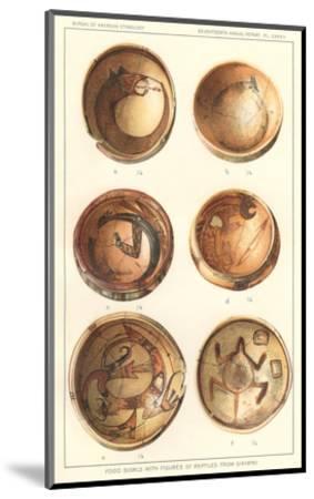 Hopi Polychrome Bowls from Sikyatki--Mounted Art Print