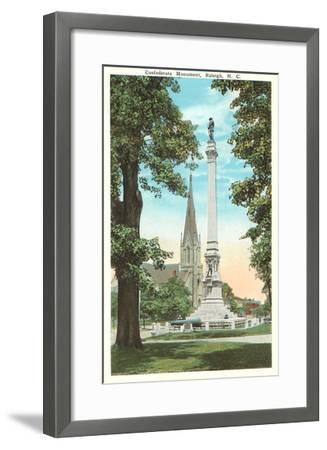 Confederate Monument, Raleigh, North Carolina--Framed Art Print