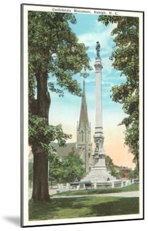Confederate Monument, Raleigh, North Carolina--Mounted Art Print