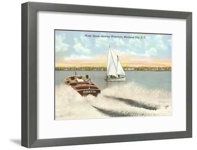 Water Sports, Morehead City, North Carolina--Framed Art Print
