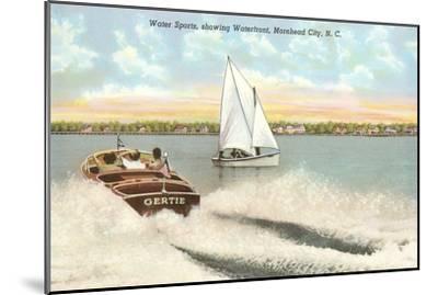 Water Sports, Morehead City, North Carolina--Mounted Art Print