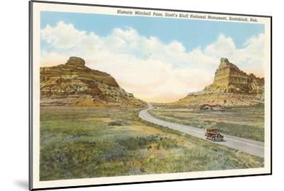 Mitchell Pass, Scottsbluff, Nebraska--Mounted Art Print