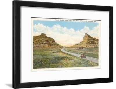 Mitchell Pass, Scottsbluff, Nebraska--Framed Art Print