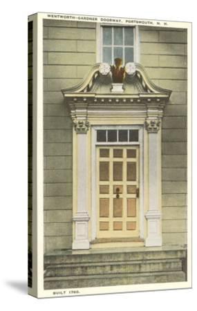 Wentworth-Gardner Doorway, Portsmouth, New Hampshire--Stretched Canvas Print