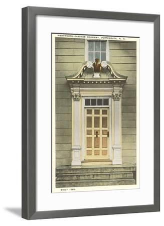 Wentworth-Gardner Doorway, Portsmouth, New Hampshire--Framed Art Print