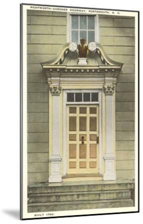 Wentworth-Gardner Doorway, Portsmouth, New Hampshire--Mounted Art Print