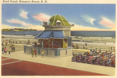 Bandstand, Hampton Beach, New Hampshire--Stretched Canvas Print
