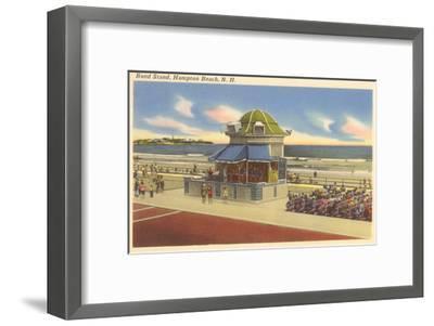 Bandstand, Hampton Beach, New Hampshire--Framed Art Print