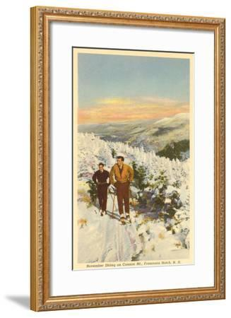 Skiing, Cannon Mountain, New Hampshire--Framed Art Print