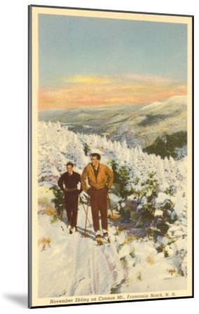 Skiing, Cannon Mountain, New Hampshire--Mounted Art Print