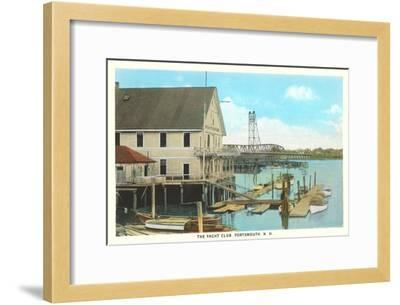 Yacht Club, Portsmouth, New Hampshire--Framed Art Print