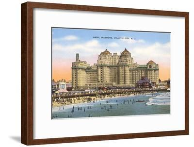 Hotel Traymore, Atlantic City, New Jersey--Framed Art Print