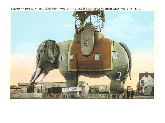 Elephant Hotel, Atlantic City, New Jersey--Art Print