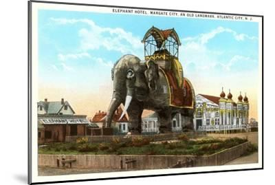 Elephant Hotel, Atlantic City, New Jersey--Mounted Art Print