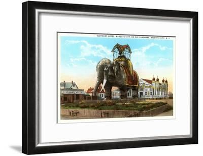 Elephant Hotel, Atlantic City, New Jersey--Framed Art Print