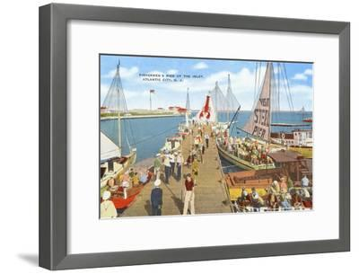 Fishing Pier, Atlantic City, New Jersey--Framed Art Print